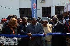 Coupure du ruban par Son Excellence DODO NDOKE Gabriel Ministre des Mines, de l'Industrie et du Développement Technologique du Cameroun